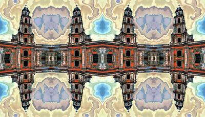 Mirror Digital Art - The Clones Of The Church Ruins Photo Art by Yevgeni Kacnelson