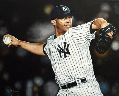 Baseball Art Painting - The Closer by Agustin Iglesias