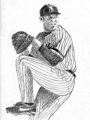Yankees Drawing - The Closer by Al Intindola