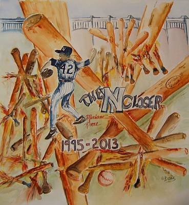 Yankee Stadium Painting - The Closer by Elaine Duras