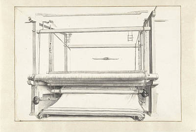 Loose Drawing - The Cloth Manufacturing A Loom And Some Loose Parts by Quint Lox