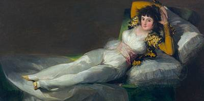 Clothed Painting - The Clothed Maja by Francisco Goya