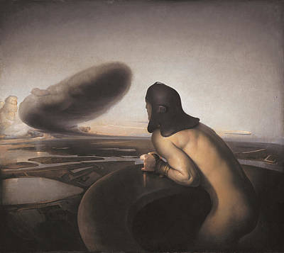 Figurative Painting - The Cloud by Odd Nerdrum