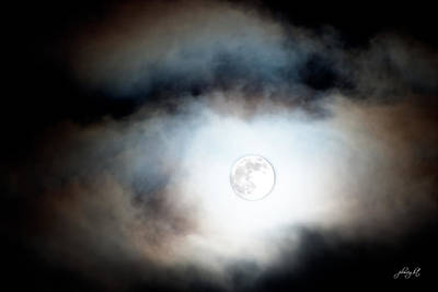 Photograph - The Clouds Parted And The Moon Shown Through by Paulette B Wright