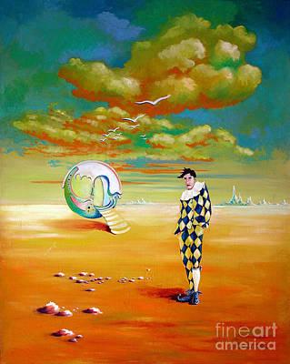 Painting - The Clown by Alexa Szlavics