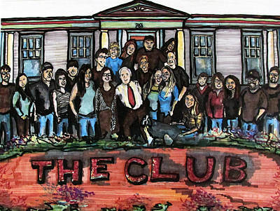Mixed Media - The Club 2013 by Denny Morreale