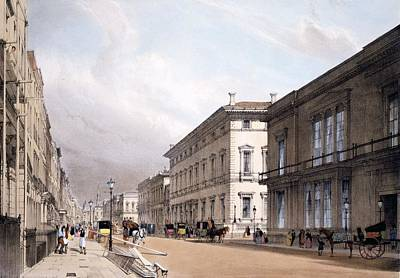 Reform Drawing - The Club Houses, Pall Mall, 1842 by Thomas Shotter Boys