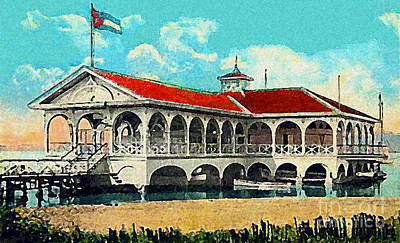 The Club Nautico In Santiago Cuba In 1910 Art Print