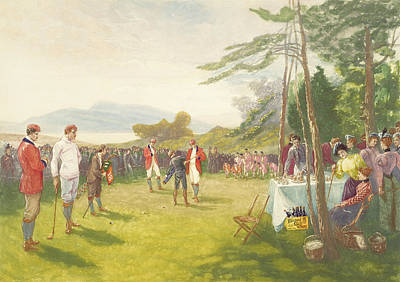 Scotch Painting - The Clubs The Thing by Henry Sandham