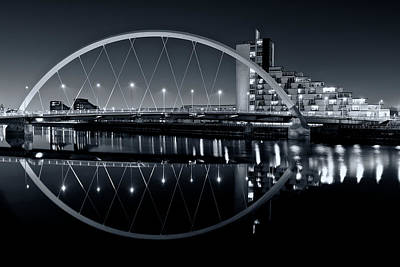 Photograph - The Clyde Arc Black And White by Stephen Taylor