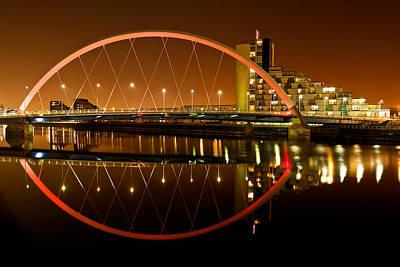Photograph - The Clyde Arc On An Orange Sky by Stephen Taylor