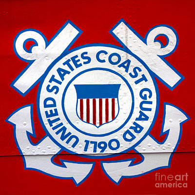 Photograph - The Coast Guard Shield by Olivier Le Queinec