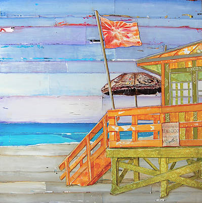 Umbrellas Mixed Media - The Coast Is Clear by Danny Phillips