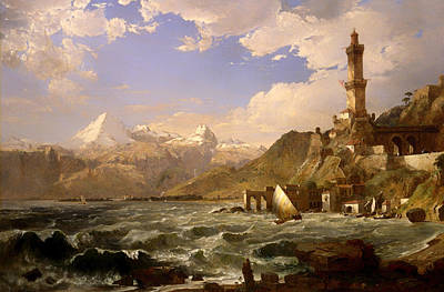 Genoa Painting - The Coast Of Genoa by Mountain Dreams