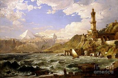 The Coast Of Genoa Art Print by Pg Reproductions