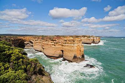 The Coastline Near Loch Ard Gorge, View Art Print by Martin Zwick