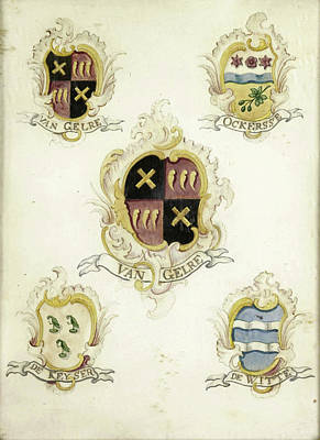 The Coat Of Arms Of Anna Digna Van Gelre Art Print by Litz Collection