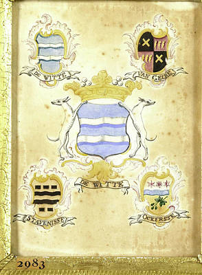 The Coat Of Arms Of Anna Jacoba De Witte Art Print by Litz Collection