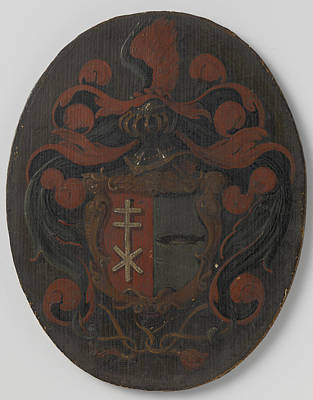 Amsterdam Drawing - The Coat Of Arms Of The Family Snoeck, Amsterdam by Litz Collection
