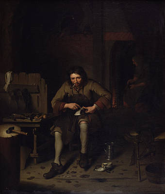 Shoemaker Painting - The Cobbler, C.1675 by Dutch School