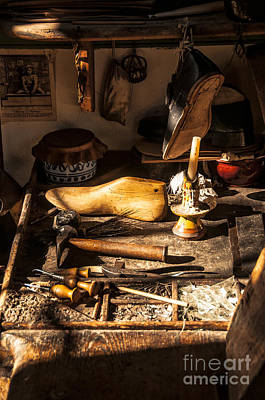 Hand Made Photograph - The Cobbler's Shop by Terry Rowe