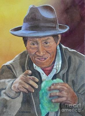 Machu Picchu Painting - The Coca Dealer by Amanda Schuster