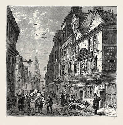 Magpies Drawing - The Cock And Magpie, Drury Lane, 1840, London by Litz Collection