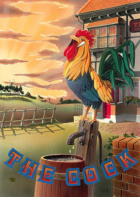 Painting - The Cock by Peter Green