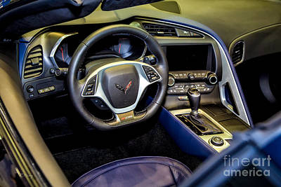 Photograph - The Cockpit Of The New Corvette II by Rene Triay Photography