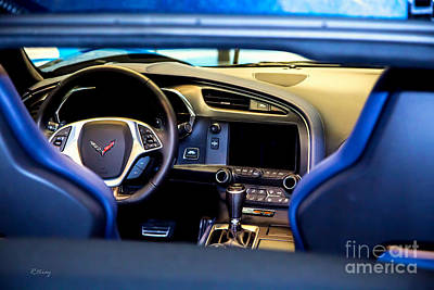Photograph - The Cockpit Of The New Corvette by Rene Triay Photography