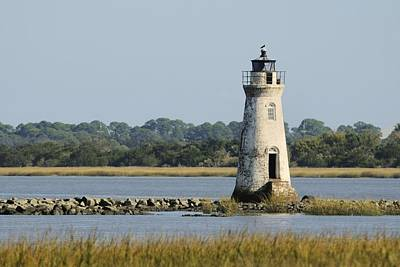 Photograph - The Cockspur Island Light And Marshes by Bradford Martin