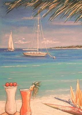 Painting - The Cocktail Hour by The Beach  Dreamer
