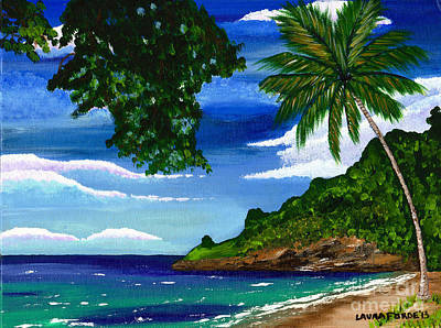 The Coconut Tree Art Print by Laura Forde