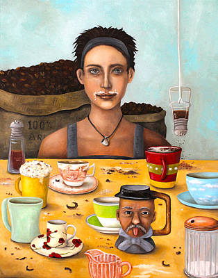 Addict Painting - The Coffee Addict by Leah Saulnier The Painting Maniac