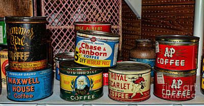 Canned Goods Photograph - The Coffee Drinker by Paul Ward