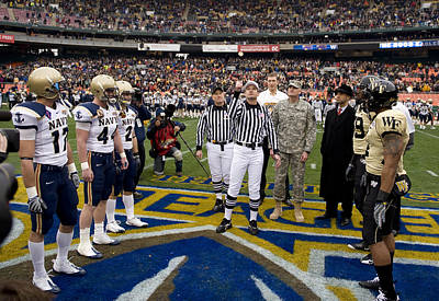 Turf Photograph - The Coin Toss by Mountain Dreams