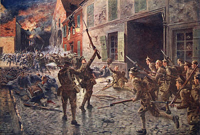 Wreckage Drawing - The Coldstream Guards At Landrecies by William Barnes Wollen
