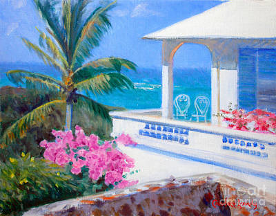 Saba Painting - The Coleman Cottage by Candace Lovely