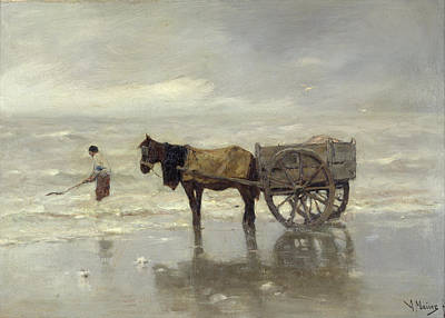 Horse And Cart Photograph - The Collection At Goemon Oil On Canvas by Anton Mauve