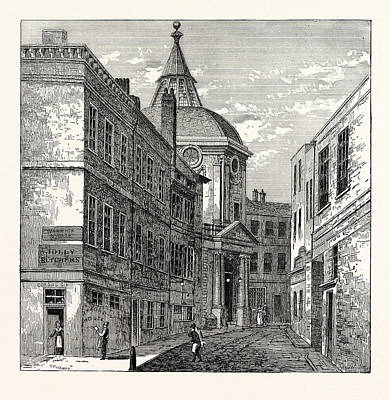 The College Of Physicians Warwick Lane 1868 London Print by English School