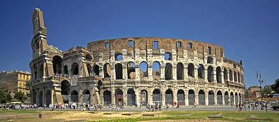 Colliseum Photograph - The Colloseum by Claudio Bacinello