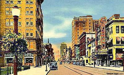 The Colonial Theatre On Hamilton St. In Allentown Pa Around 1935 Art Print