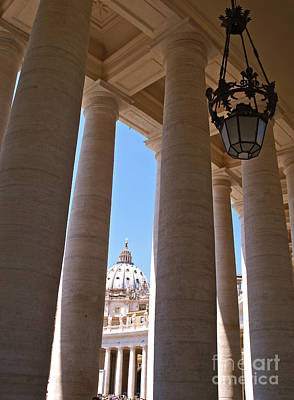 Piazza San Pietro Photograph - The Colonnade by Alex Cassels