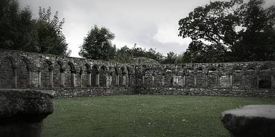 Photograph - The Colonnade At Jerpoint Abbey by Nadalyn Larsen