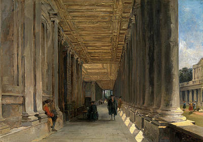 The Colonnade Of Queen Marys House, Greenwich Art Print