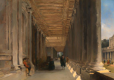 The Colonnade Of Queen Mary's House In Greenwich Art Print