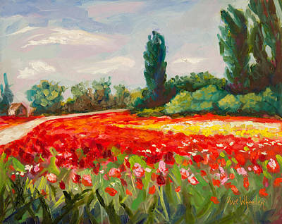 Poppies Field Painting - The Color Field by Eve  Wheeler
