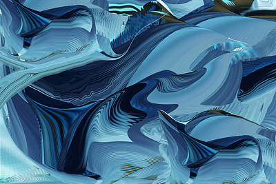 Digital Art - The Color Of Blue by Roy Erickson