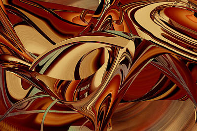 Digital Art - The Color Of Brown by rd Erickson