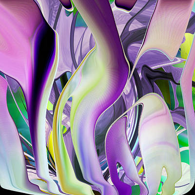 The Color Of Iris - Digital Abstract Art Art Print by rd Erickson